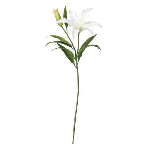 СМИККА Цветок искусственный, лилия, белый