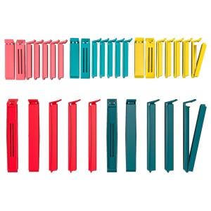 БЕВАРА Зажим для пакетов,30 штук, разные цвета разные цвета, различные размеры разные размеры