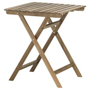 АСКХОЛЬМЕН Садовый стол, складной светло-коричневая морилка светло-коричневый серо-коричневая морилка