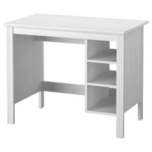 БРУСАЛИ Письменный стол, белый