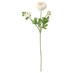 СМИККА Цветок искусственный, лютик, белый