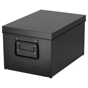 МАНИКК Коробка с крышкой, черный