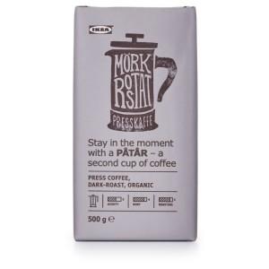 PÅTÅR Кофе для пресса, сильной обжарки, ., сертификат UTZ/100 % зерна Арабики, 0.5кг