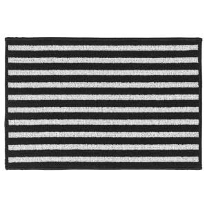 ВИНСТРУП Придверный коврик, черный/серый