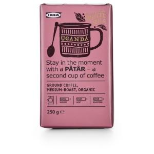 PÅTÅR Кофе молотый, средней обжарки, . Уганда/100 % зерна Арабики, Сертификат UTZ сертификат UTZ/100 % зерна Арабики, 0.25кг