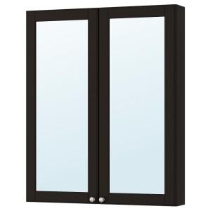 ГОДМОРГОН Зеркальный шкаф с 2 дверцами, Кашён темно-серый