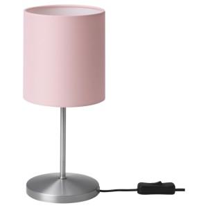 ИНГАРЕД Лампа настольная, светло-розовый