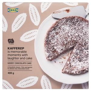 KAFFEREP СЕРИЯ Шоколадный торт с вязкой серединой, замороженный, Сертификат UTZ, 0.4кг