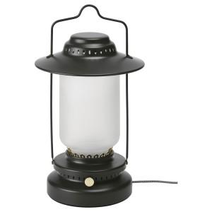СТУРХАГА Настольная лампа, светодиодная, регулируемая яркость для сада, черный