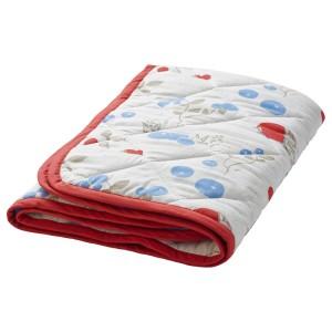 РЁДХАКЕ Одеяло/плед, орнамент «кролики/черника», белый/красный