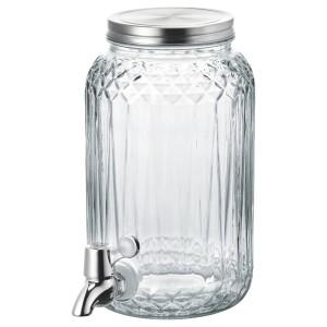 КАЛАСФИНТ Кувшин с краном, прозрачное стекло
