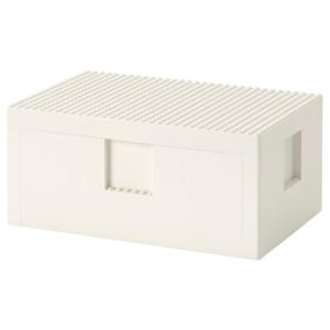 БЮГГЛЕК LEGO® контейнер с крышкой, белый