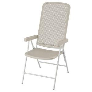 ТОРПАРЁ Садовое кресло/регулируемая спинка, белый, бежевый