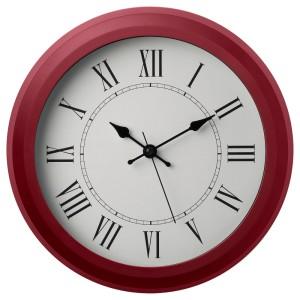 НУФРА Настенные часы, красный