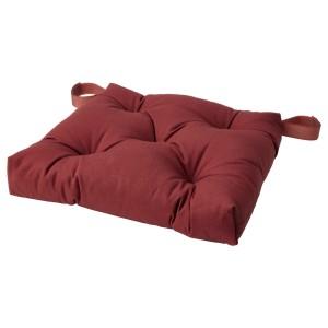МАЛИНДА Подушка на стул, темный коричнево-красный