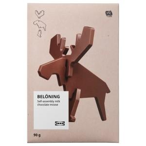 BELÖNING Молочный шоколад фигурный «Лось», детали для сборки Сертификат UTZ, 0.09кг