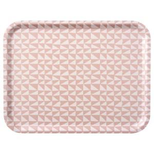 ЛУРВИГ Поднос, белый, розовый