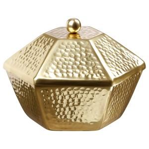 ЛЬЮВАРЕ Сервировочная миска с крышкой, золотой
