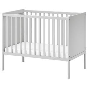 СУНДВИК Кроватка детская, серый
