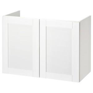 ФИСКОН Шкаф под раковину с 2 дверцами, Йельсен белый