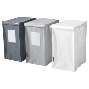 ДИМПА Мешок д/сортировки мусора, белый/темно-серый, светло-серый, 3шт