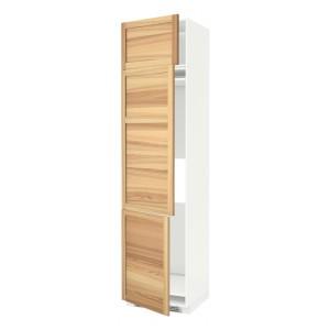 МЕТОД Выс шкаф для хол/мороз с 3 дверями, белый, Торхэмн ясень