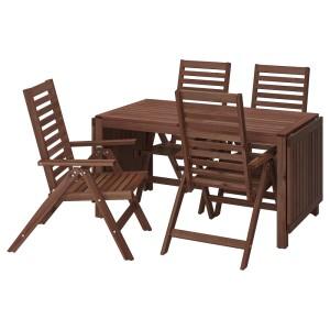 ЭПЛАРО Стол+4 кресла, д/сада, коричневая морилка