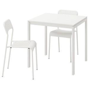 МЕЛЬТОРП / АДДЕ Стол и 2 стула, белый