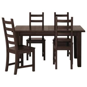 СТУРНЭС / КАУСТБИ Стол и 4 стула