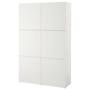 БЕСТО Комбинация для хранения с дверцами, белый, вассвикен белый