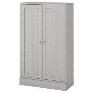 ХАВСТА Шкаф с цоколем, серый