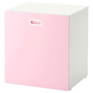 СТУВА / ФРИТИДС Модуль для игрушек, на колесиках, белый, светло-розовый
