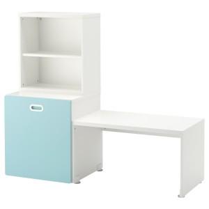 СТУВА / ФРИТИДС Стол с отделением для игрушек, белый, голубой
