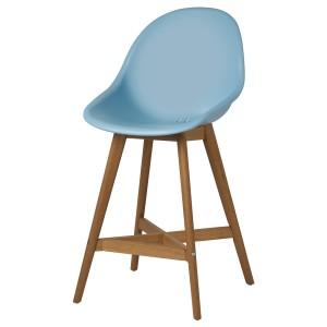 ФАНБЮН Барный стул для дома/сада, голубой