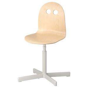 ВАЛЬФРЕД / СИББЕН Детский стул д/письменного стола, береза, белый