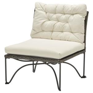 ЮТХОЛЬМЕН Садовое легкое кресло, темно-серый, Куддарна бежевый