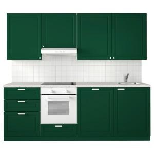 МЕТОД Кухня, белый, Будбин темно-зеленый