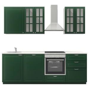 МЕТОД Кухня, белый, Будбин зеленый