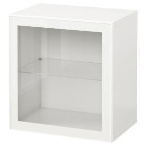 БЕСТО Комбинация настенных шкафов, белый, Глассвик белый