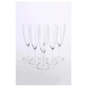 СВАЛЬК Бокал для шампанского, прозрачное стекло, 6шт