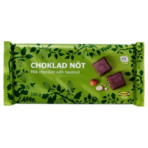 CHOKLAD NÖT Шоколад с орехами, Сертификат UTZ, 0.1кг