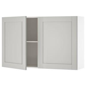 КНОКСХУЛЬТ Навесной шкаф с дверями, серый