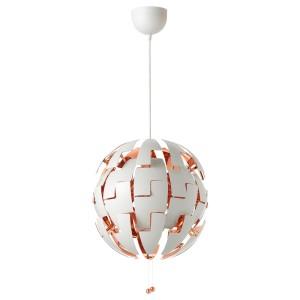ИКЕА ПС 2014 Подвесной светильник, белый, медный
