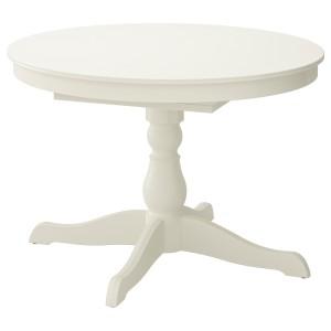 ИНГАТОРП Раздвижной стол, белый