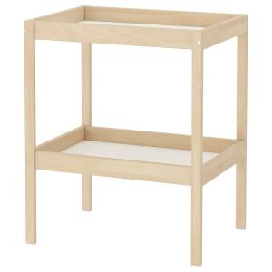 СНИГЛАР Пеленальный стол, бук, белый