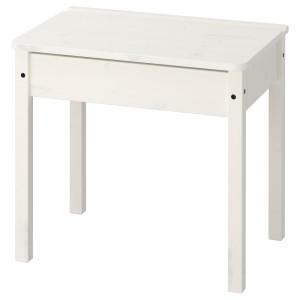 СУНДВИК Стол с отделением для хранения, белый