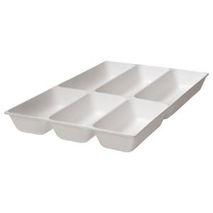 ВАРЬЕРА Лоток для столовых приборов, белый
