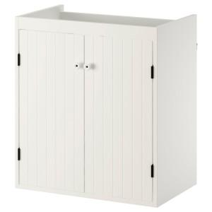 СИЛВЕРОН Шкаф под раковину с 2 дврц, белый