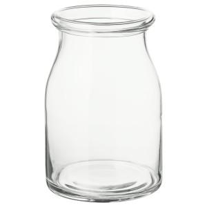 БЕГЭРЛИГ Ваза, прозрачное стекло