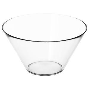 ТРЮГГ Сервировочная миска, прозрачное стекло